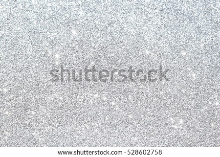 Silver background Abstract Bokeh Christmas. Royalty-Free Stock Photo #528602758