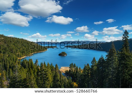 Lake Tahoe in famous California mountains - national park sierra nevada #528660766