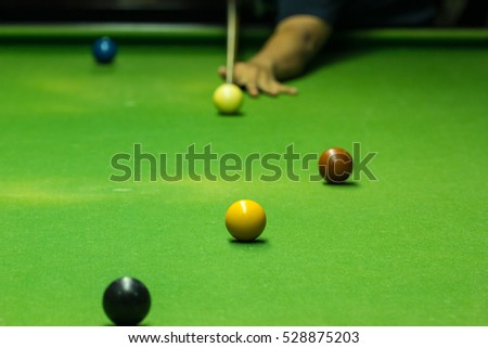 Ball and Snooker Player, man play snooker #528875203