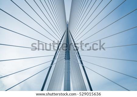 Bridge and blue sky #529015636