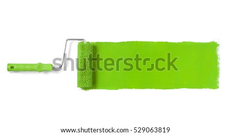 Paint roller isolated on white Royalty-Free Stock Photo #529063819