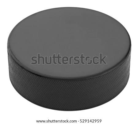Hockey puck isolated on white background #529142959