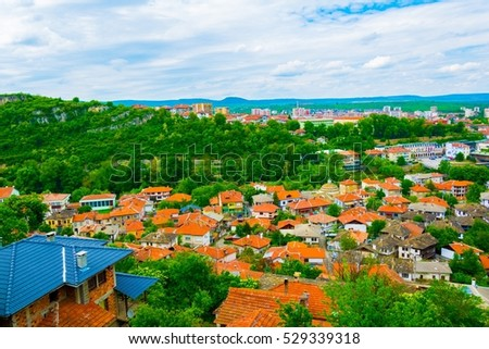 aerial view of the bulgarian city lovech #529339318
