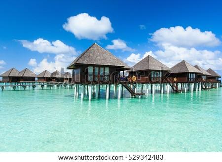 beautiful beach and tropical sea #529342483
