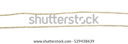 Set of white cotton ropes isolated on white Royalty-Free Stock Photo #529438639