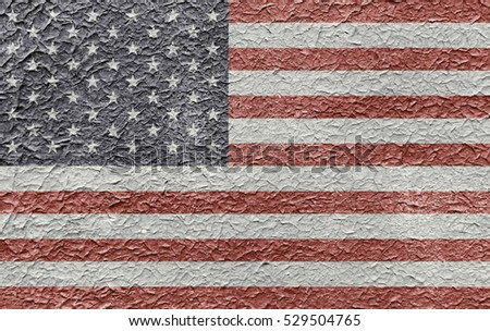 Usa flag on old background