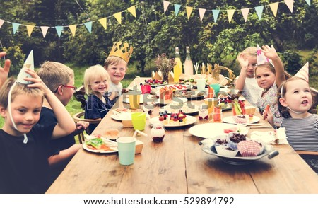 Kids Celebration Party Happiness Concept Royalty-Free Stock Photo #529894792