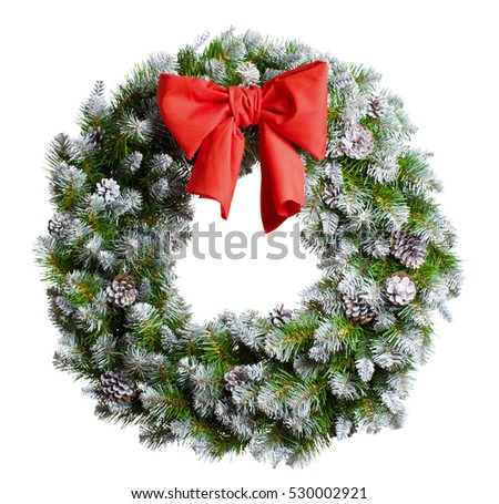 christmas wreath isolated on white #530002921