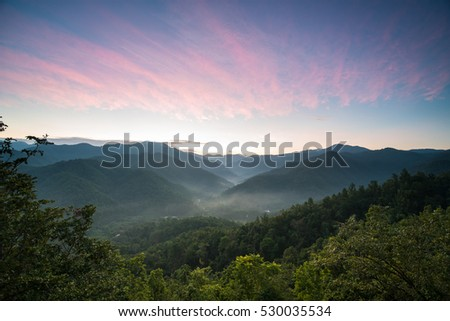 Beautiful morning at Doi Leng, Phrae province, Thailand #530035534