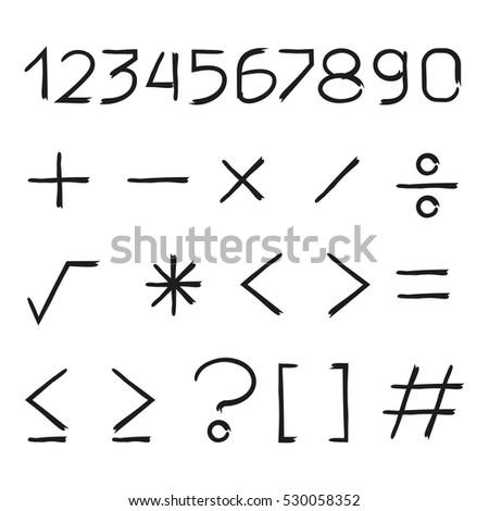 number and math symbols #530058352