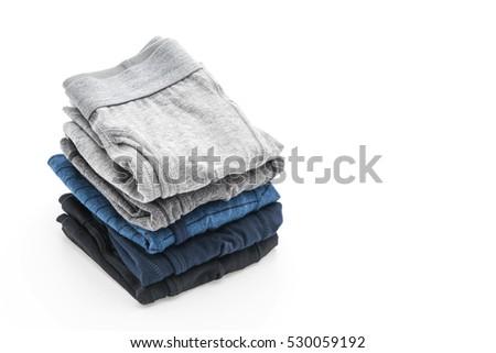 men underwear isolated on white background #530059192