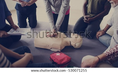 CPR First Aid Training Concept #530071255