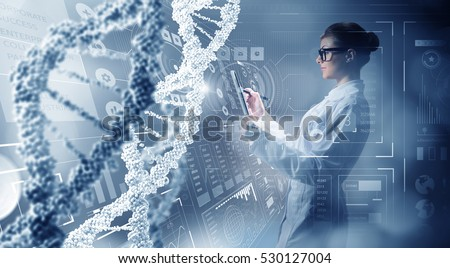 Innovative technologies in science and medicine . Mixed media Royalty-Free Stock Photo #530127004