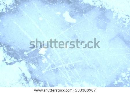 Ice rink background on winter season