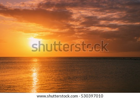 Sunset over the ocean #530397010