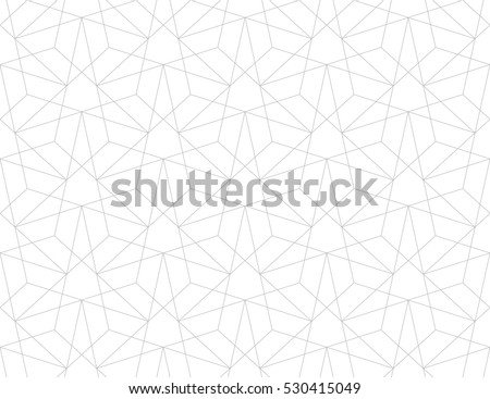 Abstract geometric pattern with crossing thin straight  lines. Stylish texture in gray color. Seamless linear pattern.