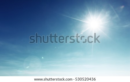 blue sky and sun #530520436