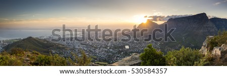 It was a tricky hike with a couple of colleagues to the top of Lions Head in Cape town. It was also dark during our ascent, but the resulting view and sunrise were spectacular. #530584357