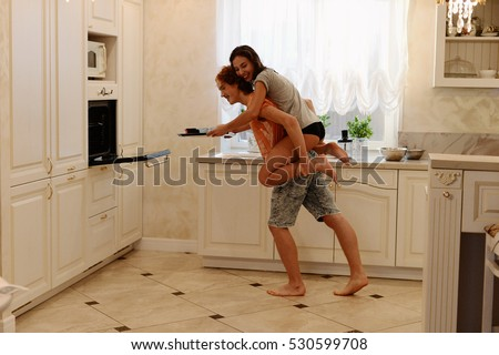 the lovers rejoice and indulge in the kitchen #530599708
