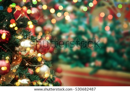 decorated Christmas tree  #530682487