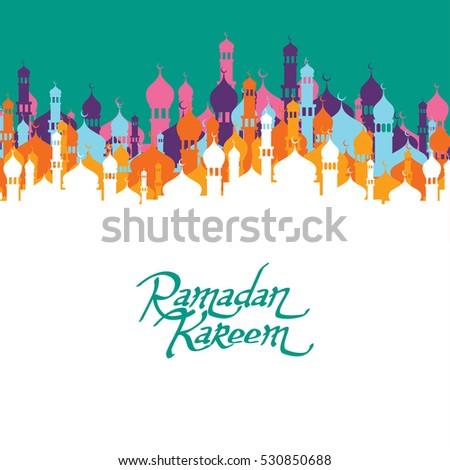 islamic ramadan mubarak art #530850688