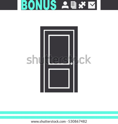 Door vector icon. Enter or exit symbol.  #530867482