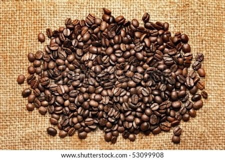 fresh roasted coffee beans background #53099908