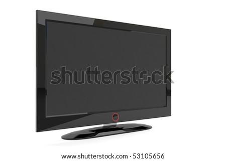A black generic plasma tv on white background #53105656