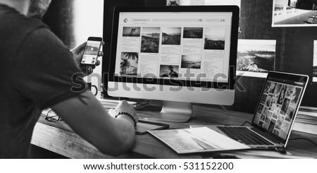 Photography Ideas Creative Occupation Design Studio Concept Royalty-Free Stock Photo #531152200