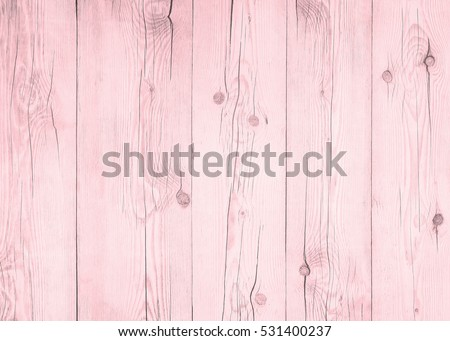 Wood floor texture pattern plank surface painted white and pink pastel wall background