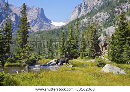 Rocky Mountain Landscape Near Dream Lake, Rocky Mountain National Park, Estes Park, Colorado, USA #53162368