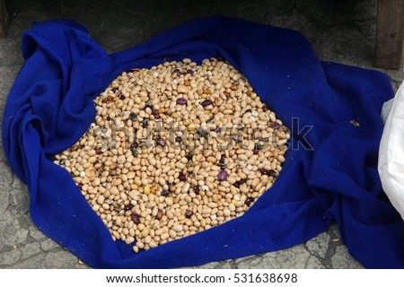 Dried beans in the Otavalo Market #531638698