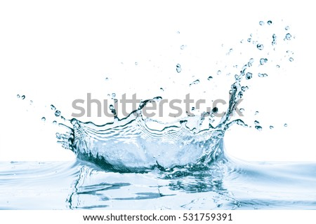 water splash with reflection, isolated #531759391