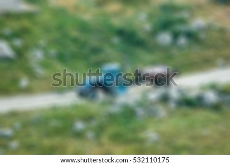 Mountaineering tourism theme creative abstract blur background with bokeh effect #532110175