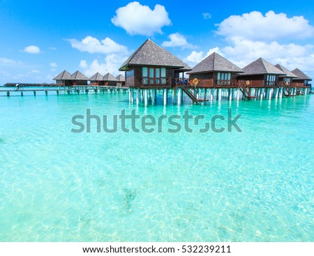 beautiful beach and tropical sea #532239211