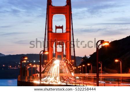 Golden Gate Bridge at Night, San Francisco #532258444