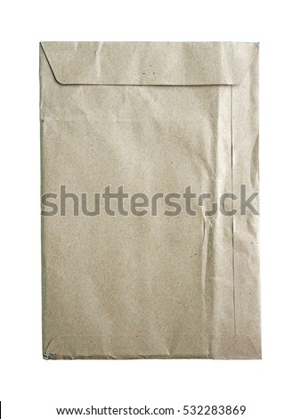 old brown envelope on white background #532283869