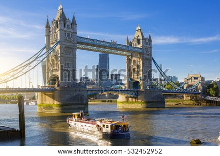 Financial District of London and the Tower Bridge #532452952