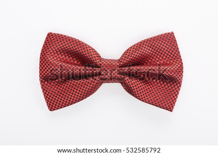 Color bow tie isolated on white background #532585792