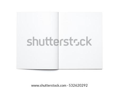 Blank open magazine isolated Royalty-Free Stock Photo #532620292