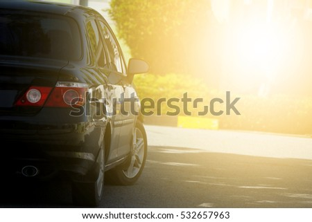 Car parking on the road prepare for race or parking. #532657963