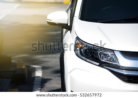 Car parking on the road prepare for race or parking. #532657972