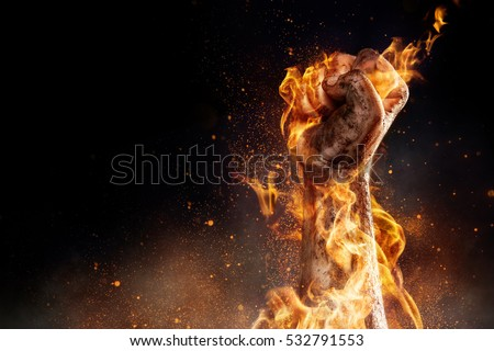Power in hands Royalty-Free Stock Photo #532791553