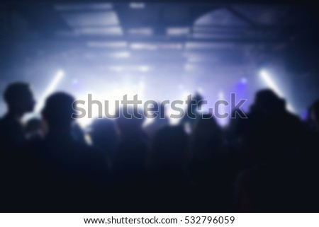 Effects blur Concert, disco dj party. People with hands up having fun #532796059