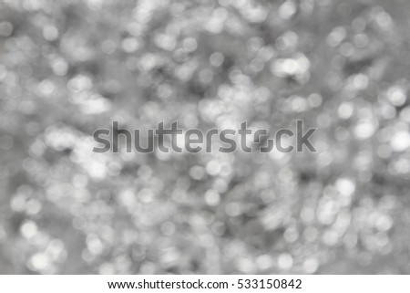 abstract silver and white bokeh circles for Christmas background. #533150842