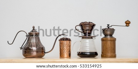 Coffee drip set #533154925