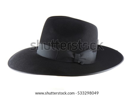 Jewish litvak hat isolated on white background #533298049