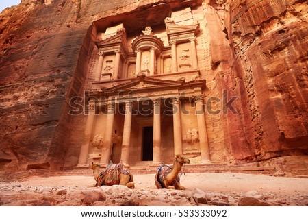 Al Khazneh - the treasury, ancient city of Petra, Jordan #533333092