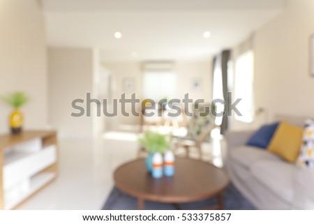 Blur abstract livingroom decoration interior  #533375857
