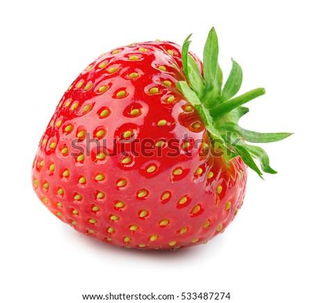 Strawberry. Fresh berry isolated on white background. #533487274